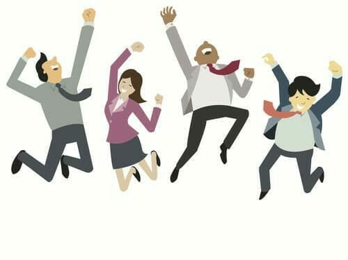 hosted voip phone systems people jumping in the air