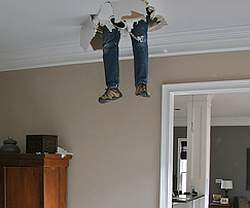 fall through drywall