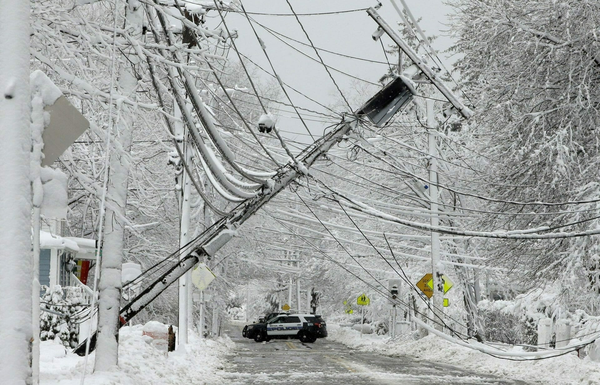 winter storm power lines power outage