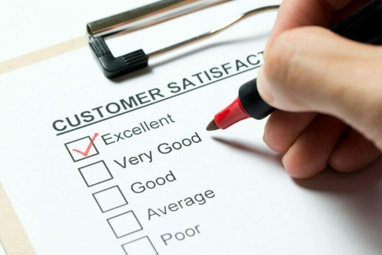 excellent customer satisfaction