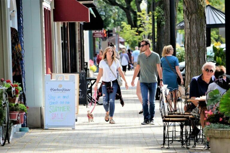small town shopping center
