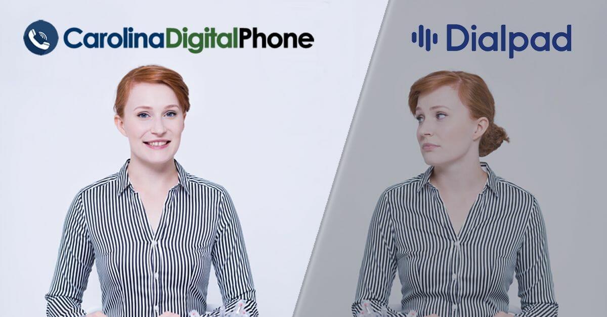 carolina digital phone versus dialpad