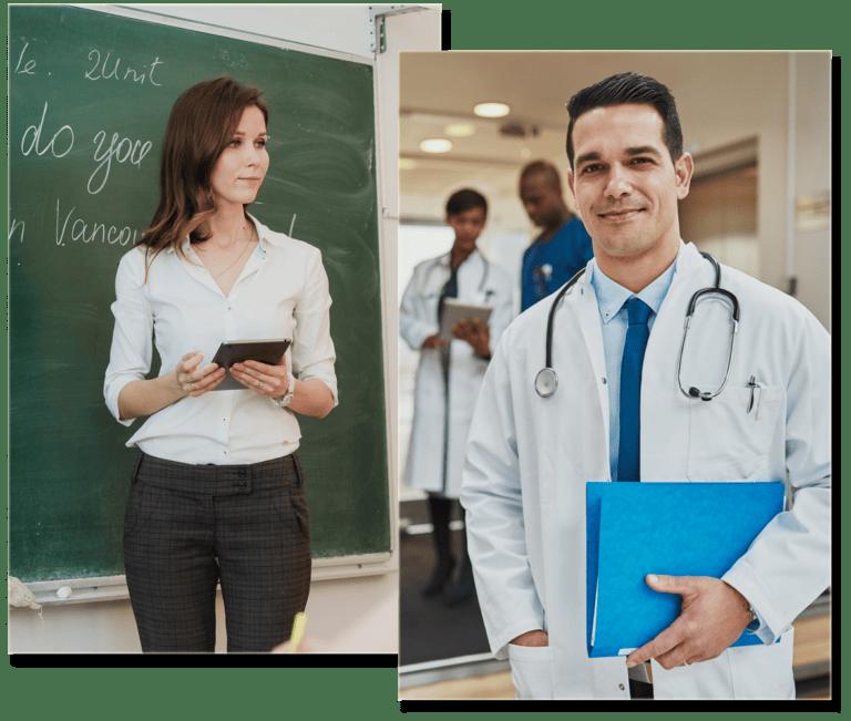 teacher and doctor