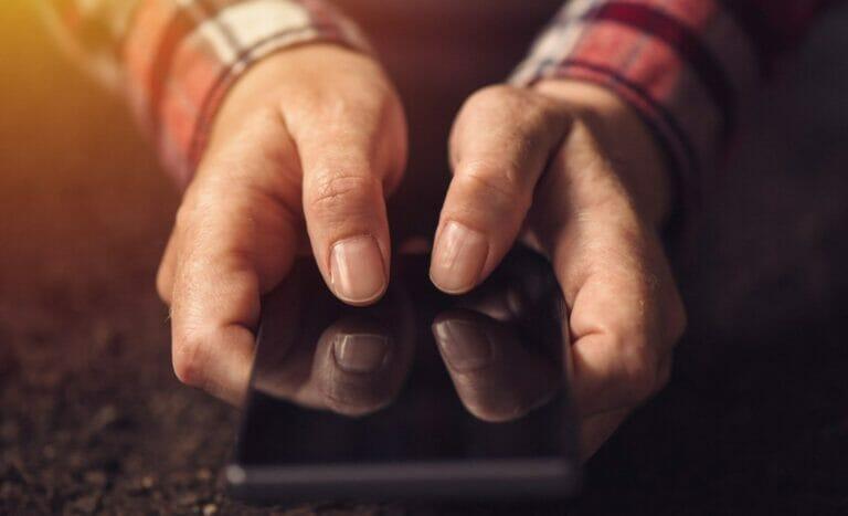 closeup smartphone