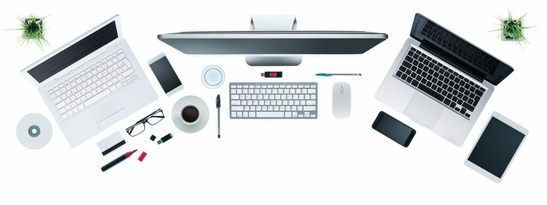 hi tech business desktop