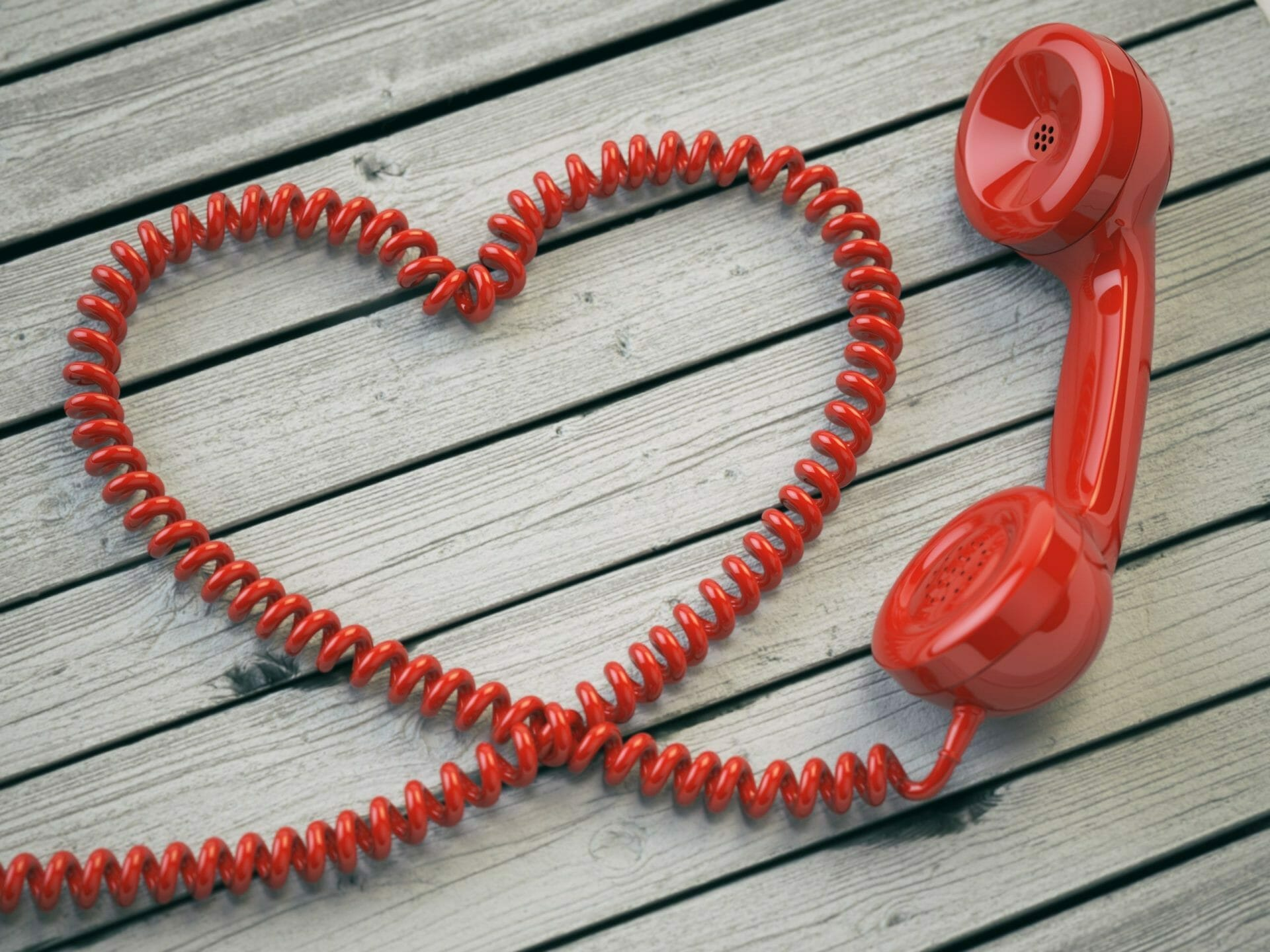 phone receiver heart