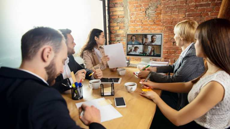 people working on their workplace communication